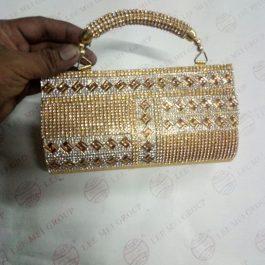 small clutch bag diamond look